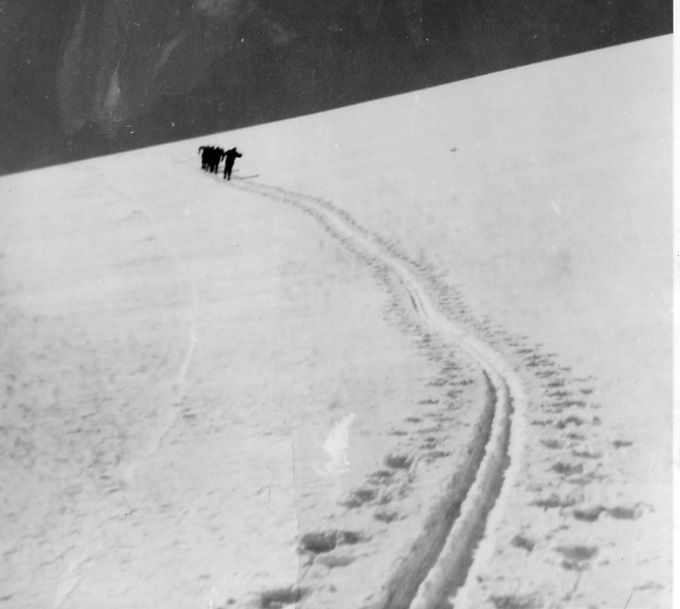 ClimbingMarmotBasin1962