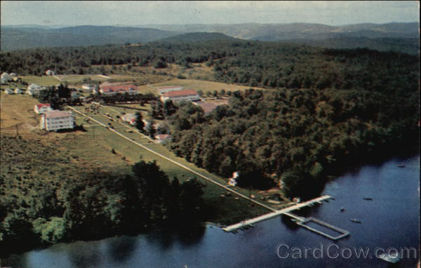 Aerial View of The Waldemere on Shandelee Lake Livingston Manor
